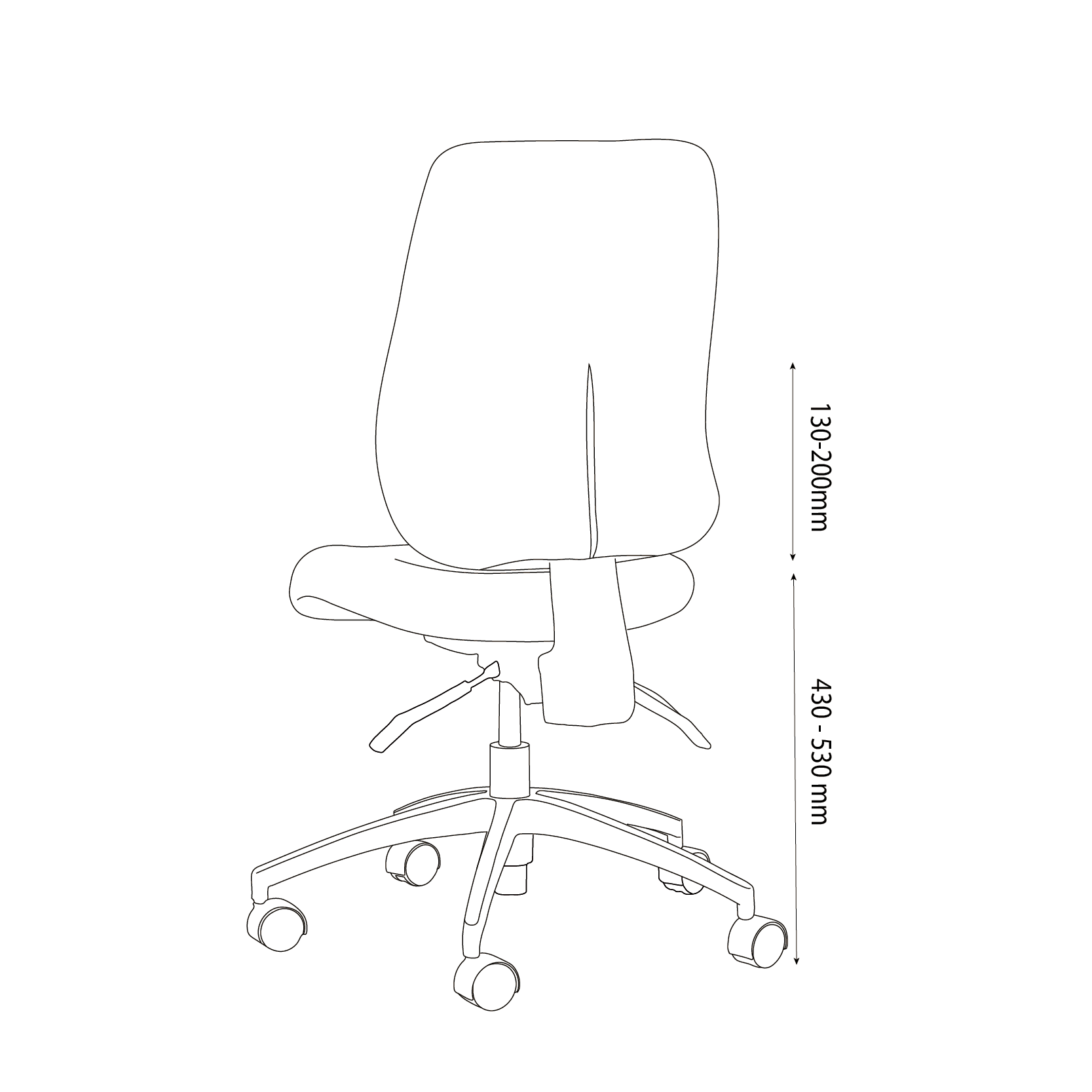 Project W Chair Back line drawing