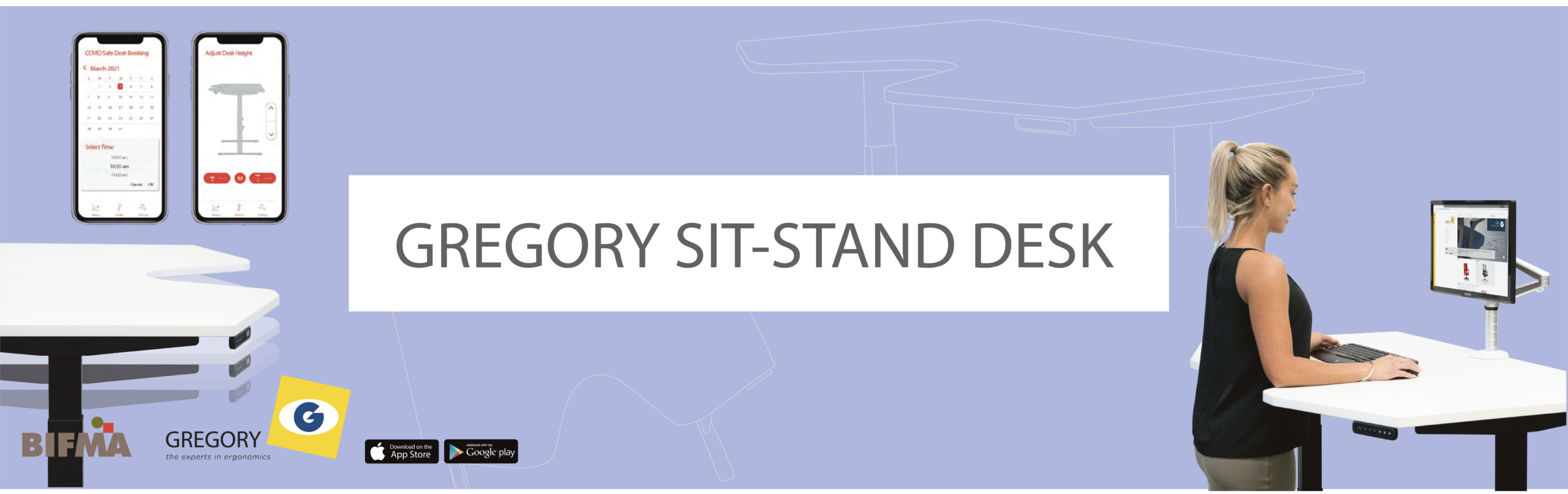 Gregory sit stand desk